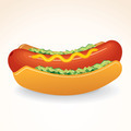 Fast Food Icon Hot Dog with Mustard, Relish - PhotoDune Item for Sale
