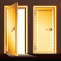 Golden Vault Door. - PhotoDune Item for Sale