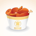 Fast Food Icon. Fried Chicken in Bucket - PhotoDune Item for Sale