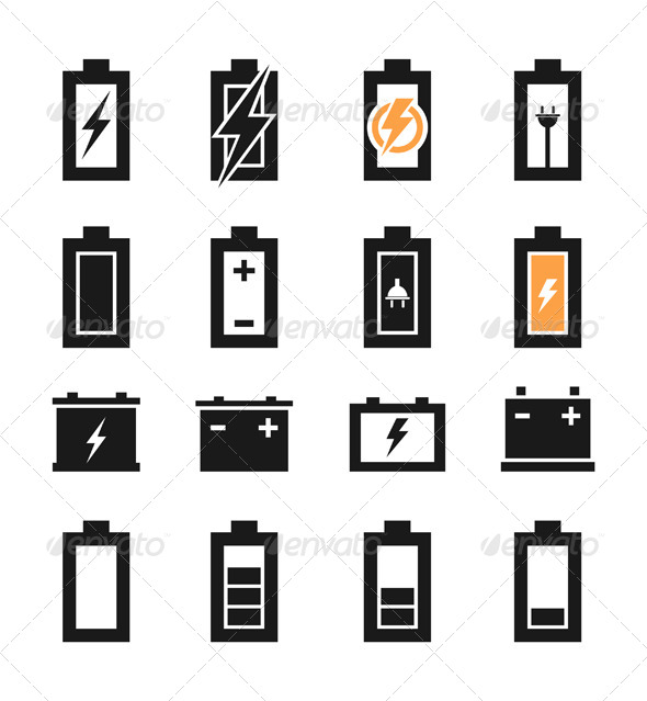 GraphicRiver Battery Icons 6534300