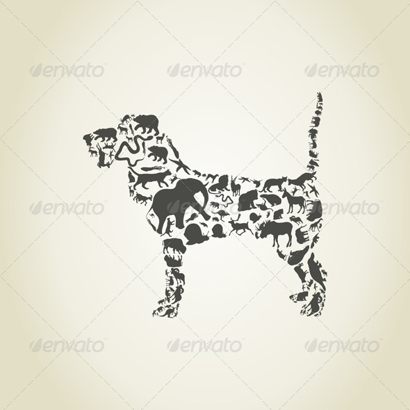 GraphicRiver Dog Made of Animals 6534319