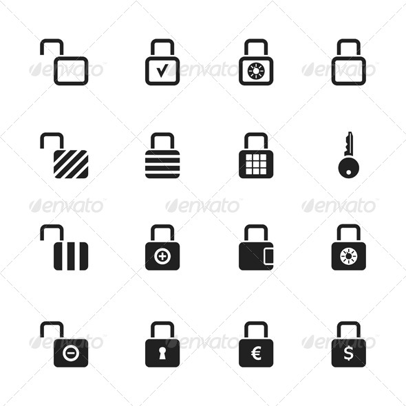 GraphicRiver Lock Icons 6534556