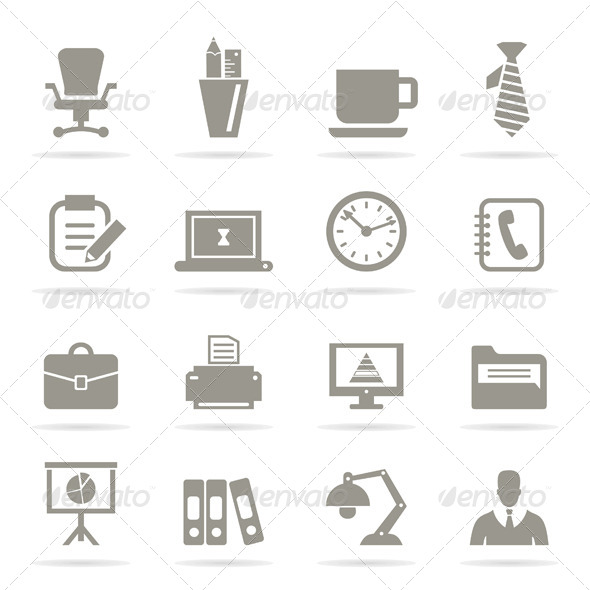 GraphicRiver Office Icons 6534601