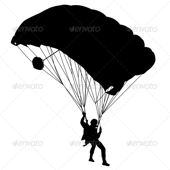 GraphicRiver Jumper Black and White Silhouettes Vector 6534836