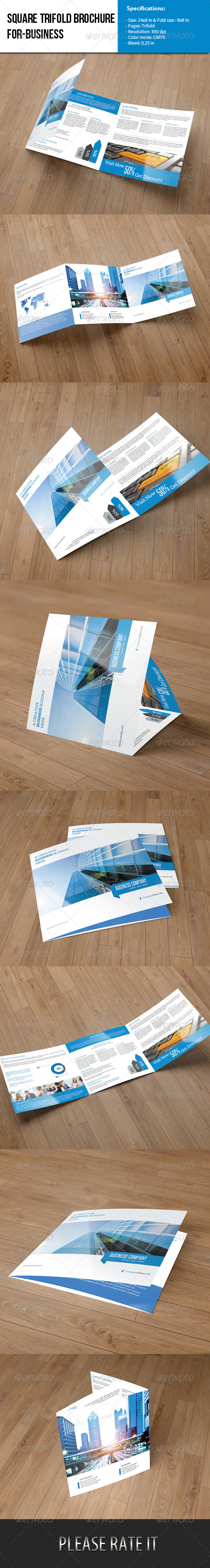 GraphicRiver Square Trifold- Business 6534838