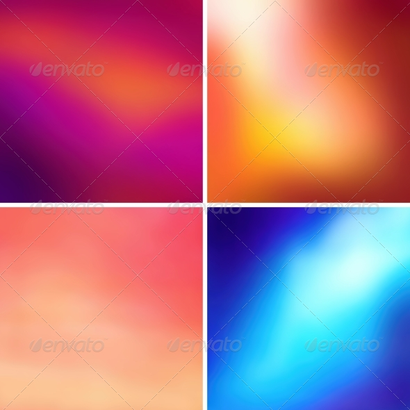 GraphicRiver Abstract Colorful Blurred Vector Backgrounds 6535081