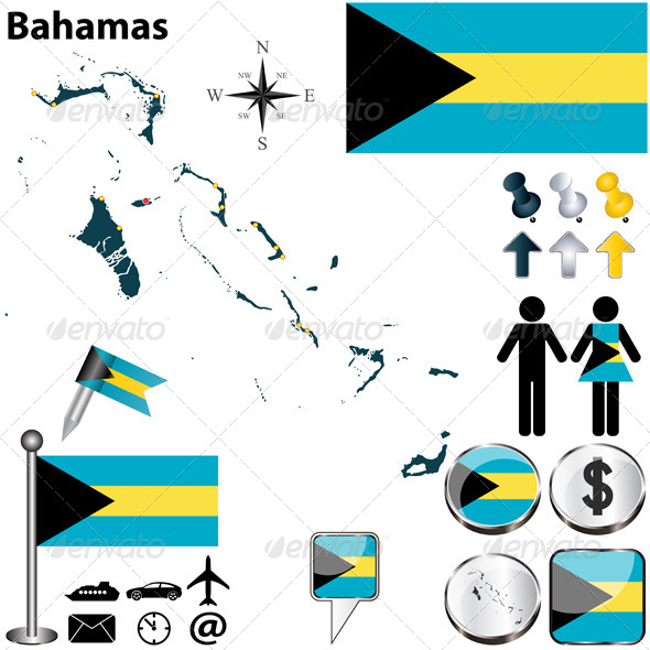 GraphicRiver Map of Bahamas 6536877