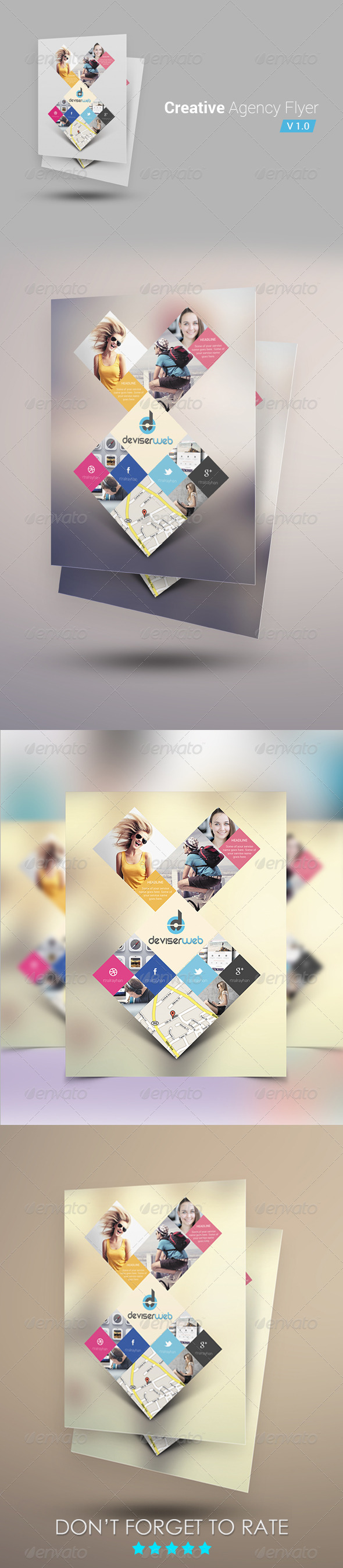 GraphicRiver Creative Agency Corporate Flyer 6536898