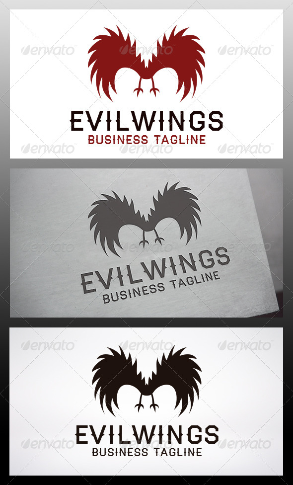 GraphicRiver Evil Wings Logo 6537119