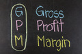 Chalk drawing -:GPM, Gross, Profit, Margin - PhotoDune Item for Sale