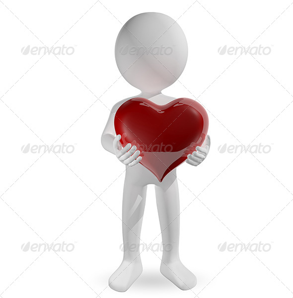 GraphicRiver Man with Heart 6537188