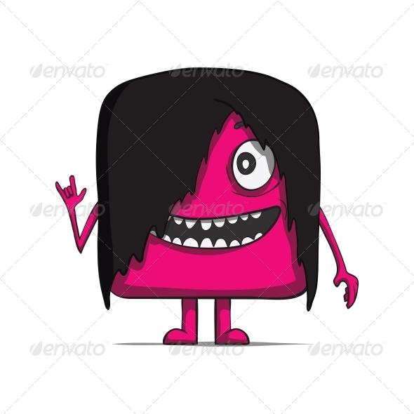 GraphicRiver Funny Cube Dude Rocker Heavy Metal 6537432