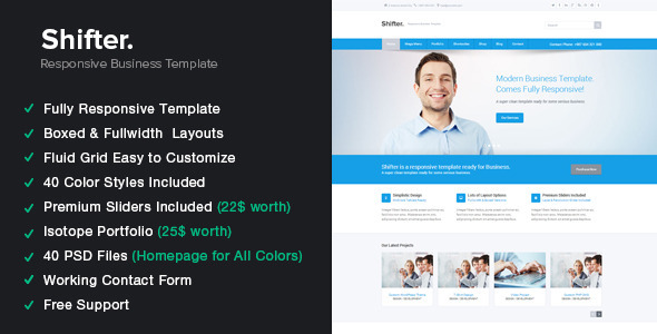 Shifter - Responsive HTML5 Template  - Corporate Site Templates