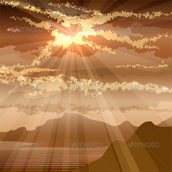 GraphicRiver The Sunset in a Gulf 6538697