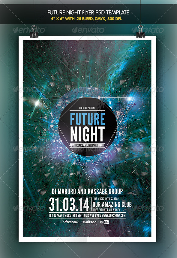 Future Night | Flyer Template - Clubs & Parties Events