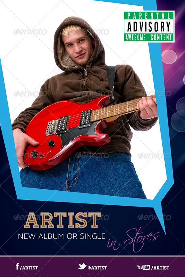 GraphicRiver Artist or Musician Promotional Poster or Flyer 6504975