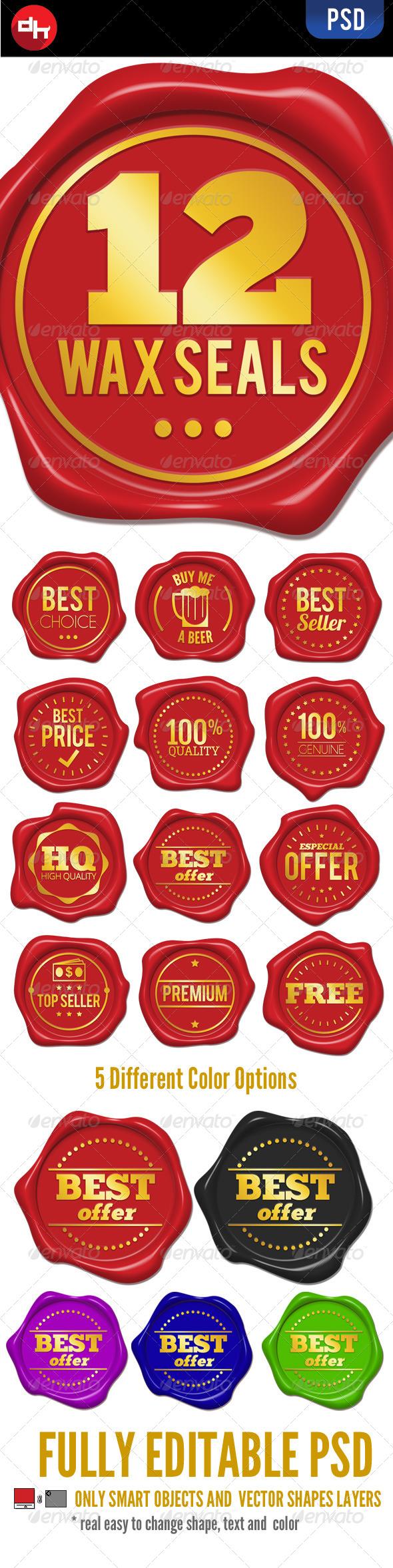 GraphicRiver Wax Seals 6539339