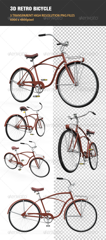 GraphicRiver 3D Retro Bicycle 6539860