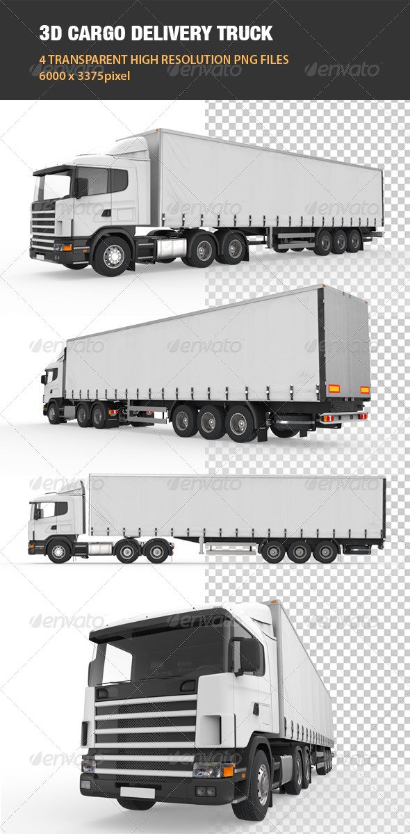 GraphicRiver 3D Cargo Delivery Truck 6539964