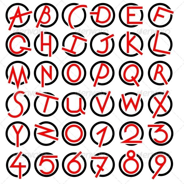 GraphicRiver Decorative Alphabet Set 6540647