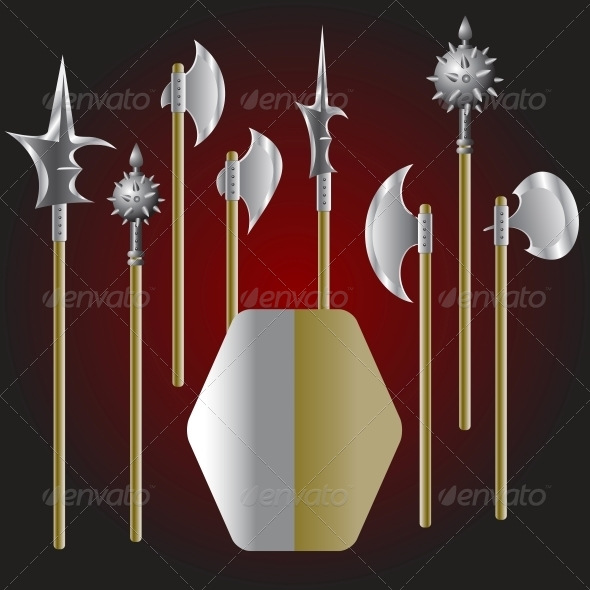 GraphicRiver Medieval Weapons and Shield 6540966