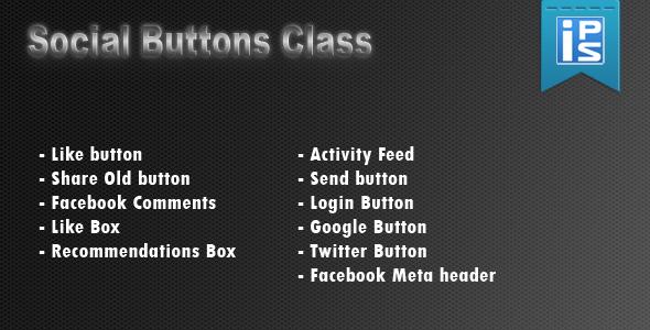Social Buttons Helper Class