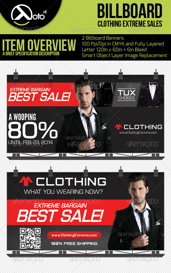 GraphicRiver Extreme Sales Clothing Billboards 6541881
