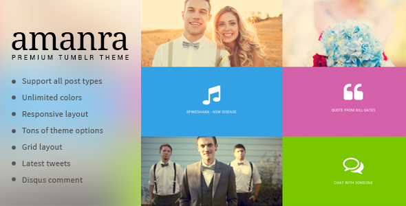 ThemeForest Amanra Responsive Grid Photography Tumblr Theme 6541256