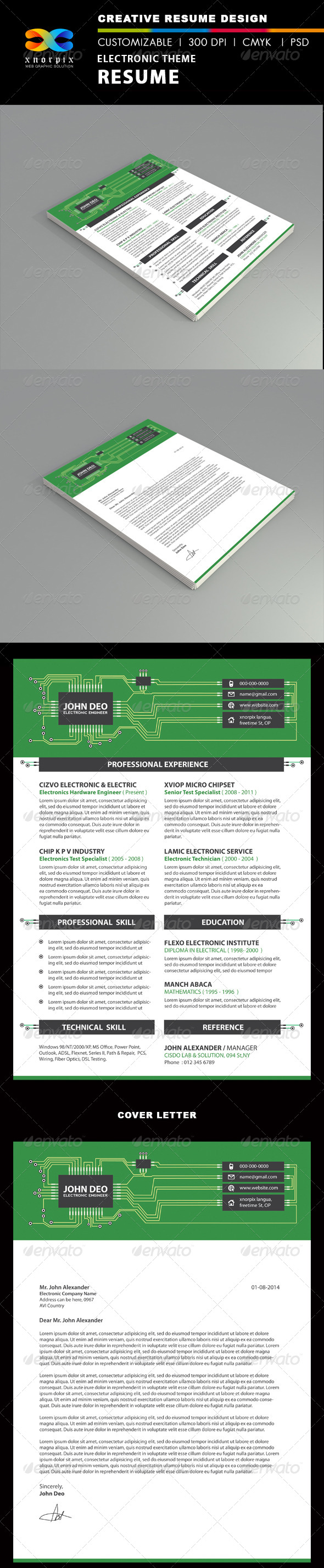 GraphicRiver Electronic Resume 6542015