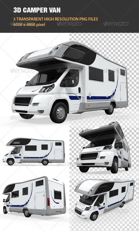 GraphicRiver 3D Camper Van 6542207