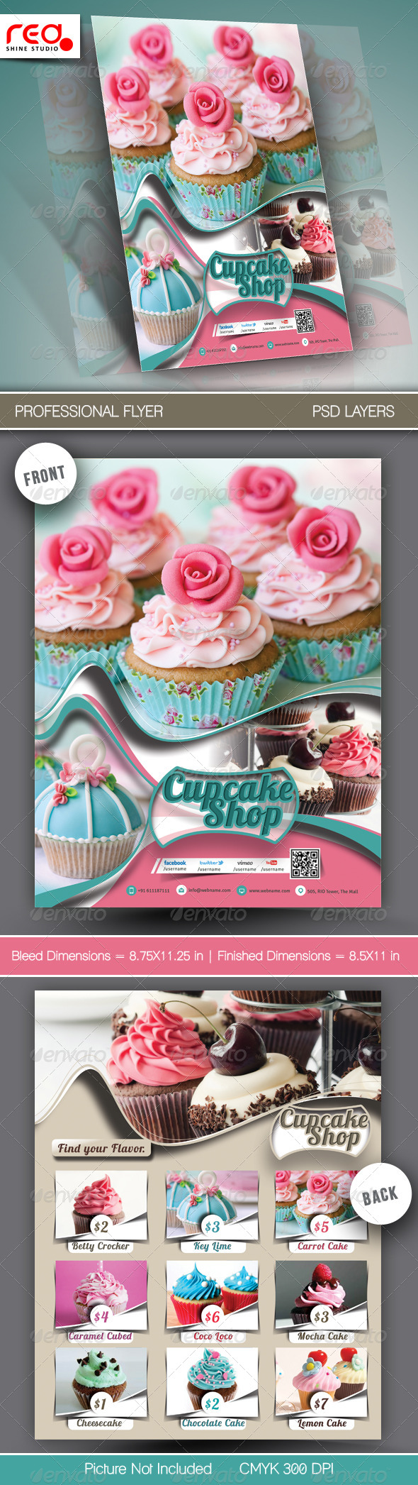 GraphicRiver Cupcake Menu Template 6542260