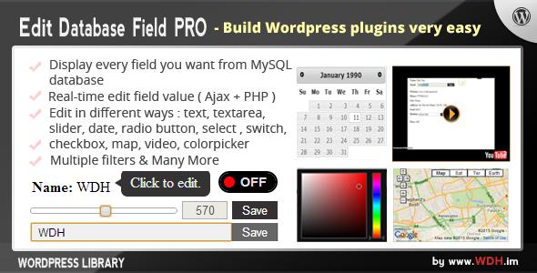 Edit Database Field PRO (Wordpress Library)