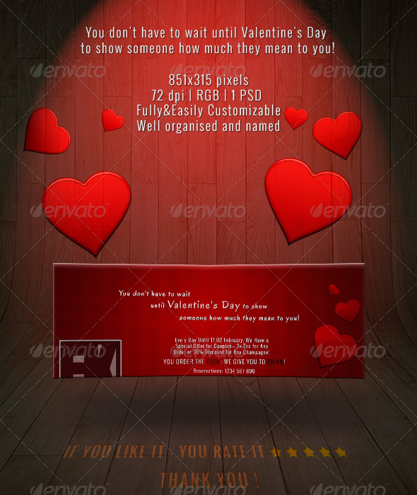GraphicRiver Valentine s Day Business Facebook Cover 6542768