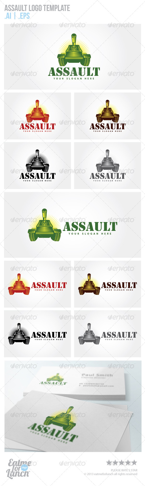 GraphicRiver Army Tank Logo Templates 6542812