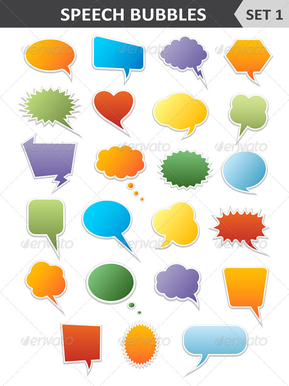 GraphicRiver Colorful Speech Bubbles Set 1 6542816