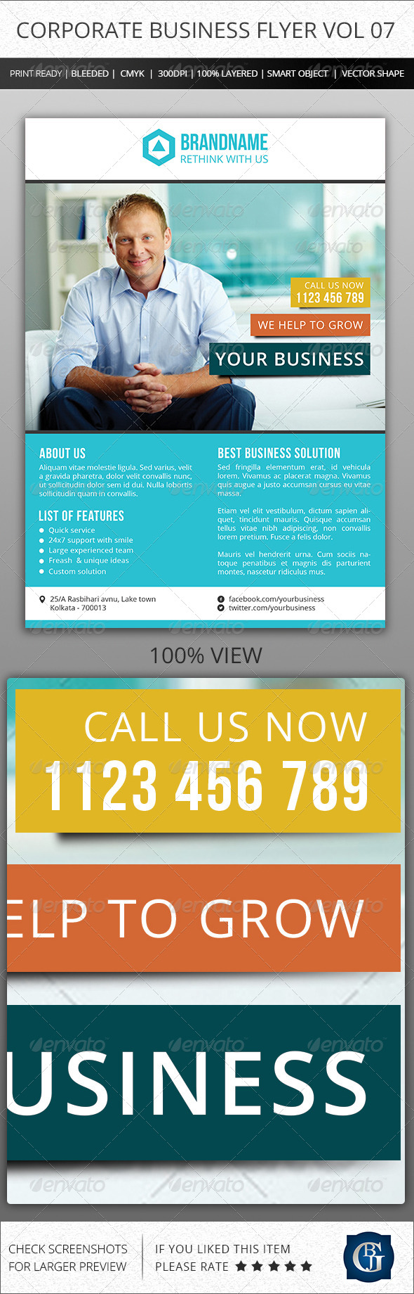 GraphicRiver Corporate Creative Business Flyer Vol 07 6543174