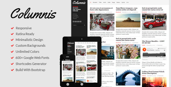 ThemeForest Columnis Premium WordPress Blog Magazine Theme 6543554