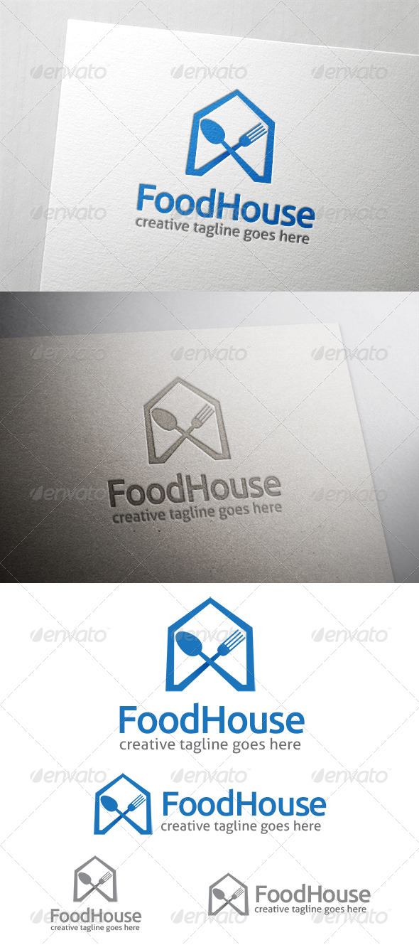 GraphicRiver Food House Logo 6544340