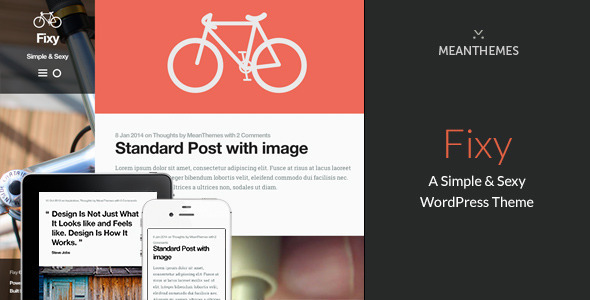 Fixy: A Simple & Sexy WordPress Theme - Personal Blog / Magazine