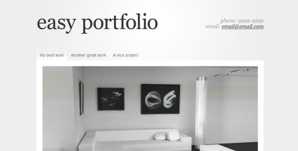 easy portfolio by emanuelfelipe