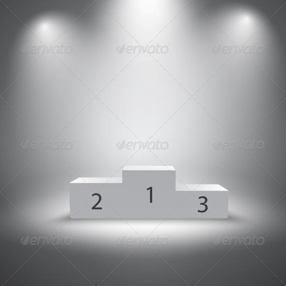 GraphicRiver Illuminated Sports Winners Podium 6545224