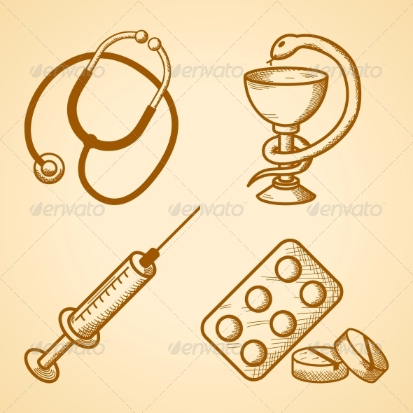 GraphicRiver Icons Set of Medical Items 6545922