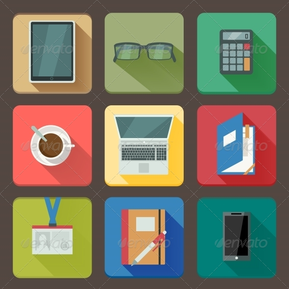 GraphicRiver Business Set of Workplace Icons 6545970