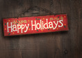 Holiday sign on distressed wood wall - PhotoDune Item for Sale