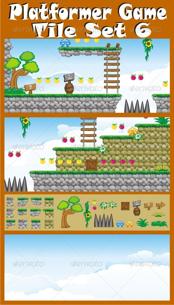 GraphicRiver Platformer Game Tile Set 6 6547527