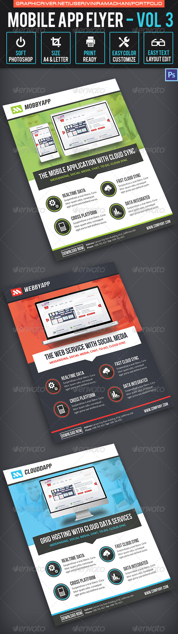 GraphicRiver Mobile App Flyer Volume 3 6548055