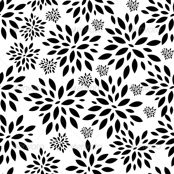 GraphicRiver Flower Leaves Seamless Pattern Background Vector 6548057