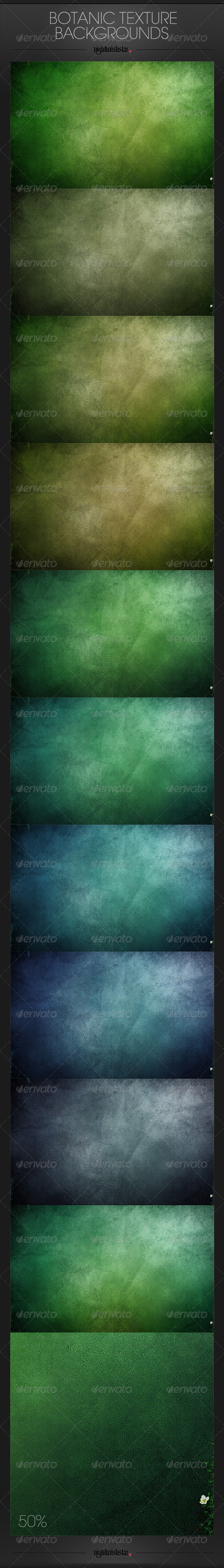 GraphicRiver Botanic Texture Backgrounds 6549231
