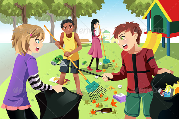 GraphicRiver Volunteer Kids 6549288