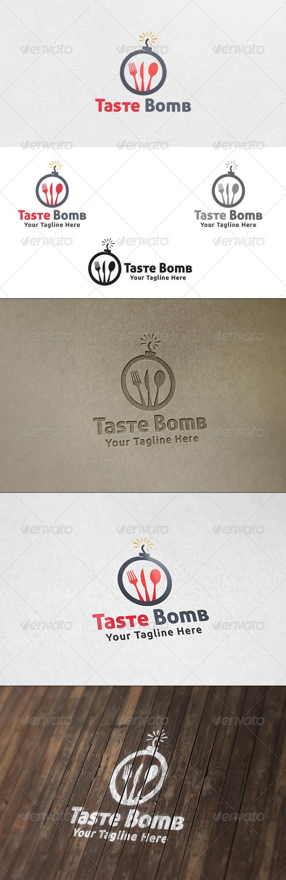 GraphicRiver Taste Bomb Logo Template 6550643